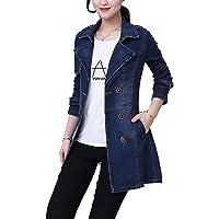 Giacca di Jeans da Donna Giacca di Transizione Blouson Cappotto Giovane Abiti da Festa di Jeans Capispalla Cappotto di…
