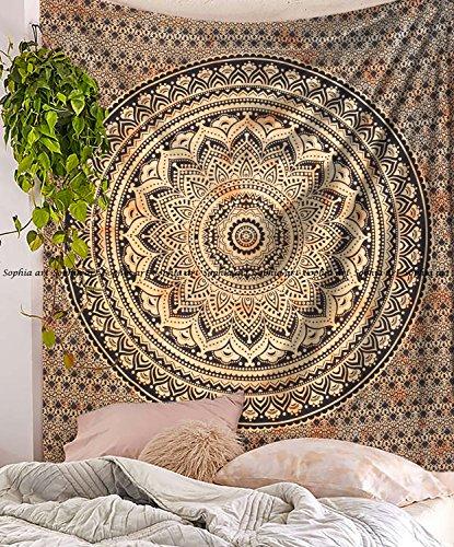 rch Mandala Wand Kunst Hippie nhanging Betten berdecke Wall Art Indien TYE Dye Gelb Ombre ()
