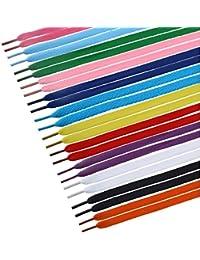 TINKSKY 12 Paia Lacci delle Scarpe Piatto per Bambini Adulti Sneakers colori  misti 6f5ba127c3b