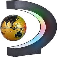 Aibesy Schwebender Globus Magnetisch Kreative 3 Zoll C Geformte Magnetschwebebahn Schwimmende Weltkarte Globus mit LED…