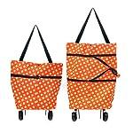 Vmoni Foldable Shopping Trolley Bag (Multi Color)