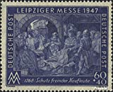 Alliierte Bes.-Gem.Ausg. 942I A geprüft, Linienzähnung 13 postfrisch 1947 Leipziger Messe (Briefmarken für Sammler)