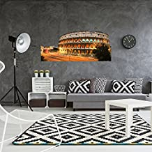 Vinilo decorativo pared 3D Coliseo en la noche   Varias Medidas 100x130cm   Adhesivo Resistente y de Facil Aplicación   Multicolor   Pegatina Adhesiva Decorativa de Diseño Elegante 