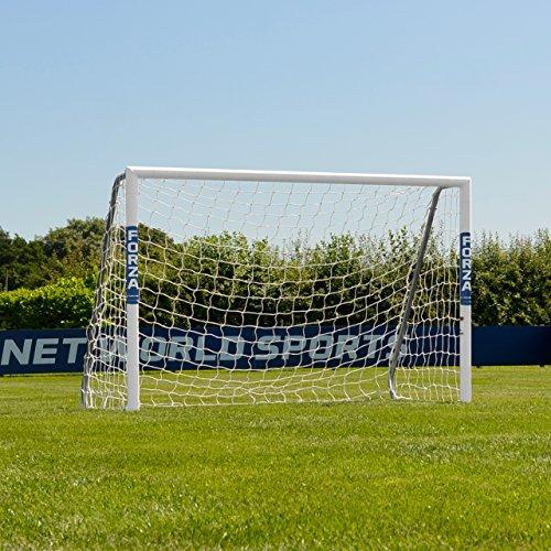FORZA Alu60 Aluminium Fußballtor mit Netz (1,8m x 1,2m >>> 7,3m x 2,4m) [Net World Sports] (1,8m x 1,2m)