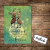 A6 Geburtstagskarte Postkarte Print Ameisen-Pärchen & Spruch Zitat Glück Herz pk162 ilka parey wandtattoo-welt®