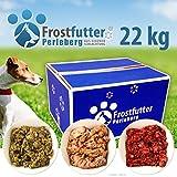 Frostfutter-Perleberg Barf Starter Paket 22 Kg inklusive Grüner Pansen, Blättermagen, Huhn (gewolft), Gulasch (Rind), Herz gewolft und vieles mehr