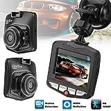 Qiopes Registratore di Guida per Auto con Obiettivo grandangolare con Display LCD HD Durevole e Pratico Telecamera Posteriore