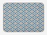 Quatrefoil Bath Mat, Ancient Delft Blue Inspi...Vergleich