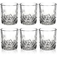 Queensway Lot de 6 verres à whisky dans un coffret cadeau, 6x Pompeii Whiskey Tumblers