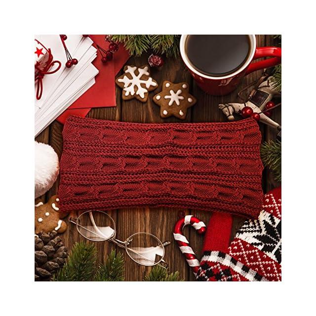 ... Atmoko Écharpe Cercle en Tricot à Crochet Twist Foulard Tricoté Hiver  Automne Printemps à la Mode 08728bd61a2