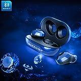 Bluetooth Kopfhörer, Bluetooth V5.0 BlitzWolf In Ear Sport Kabellos Kopfhörer TWS Headset 15H Spielzeit mit Tragbar Ladebox, IPX6 Wasserdicht, Noise Cancelling für iPhone Android Samsung (Königsblau)