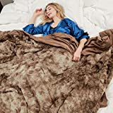 softan Kuscheldecke Kunstfell | Hochwertige Felldecke für Wohn- und Schlafräume | 130cm×150cm Braun