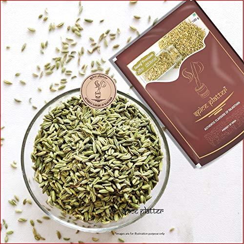 Spice Platter Premium Fennel Seeds/ Moti Sauf/ Whole Sauf (1200g) Pack of 2 (1Kg+200G) Pouch