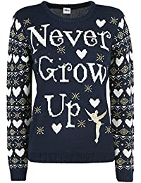 Peter Pan Tinkerbell - Never Grow Up Christmas Sweater Jersey Caballero Multicolor