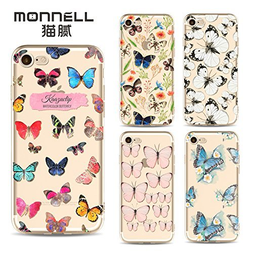 Coque iPhone 6 Plus 6s Plus Housse étui-Case Transparent Liquid Crystal en TPU Silicone Clair,Protection Ultra Mince Premium,Coque Prime pour iPhone 6 Plus 6s Plus-Le Papillon-style 18 20