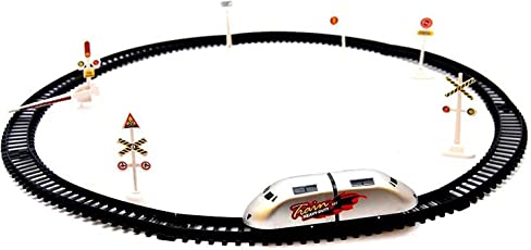 Vivir Kid's High-Speed Toy Train with Track and Signal Accessories, Small (Multicolour)