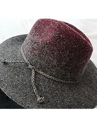 b92f9c887024a Zhou Yunshan Cambio de Sombrero de Mujer de Color Sombrero de Lana de Punto  Sombrero de Hombre Coreano Sombrero de otoño. (Color…