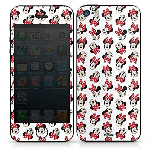 Apple iPhone 5s Case Skin Sticker aus Vinyl-Folie Aufkleber Disney Minnie Mouse Fanartikel Geschenk DesignSkins® glänzend