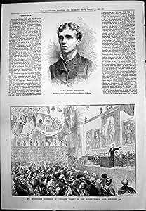 Copie Antique Nuit 1880 de Champion de Tir de Pigeon de Michael Esterhazy de Compte de la Douzième