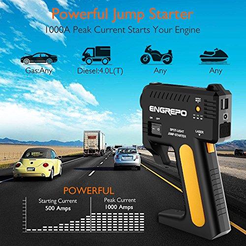 Engrepo-1000-a-Peak-12-V-portatile-auto-Jump-Starter-con-cavi-jumper-Smart-tutti-i-gas-40l-motore-diesel-Power-Bank-e-caricatore-del-telefono-con-costruito-in-torcia-di-emergenza-a-LED