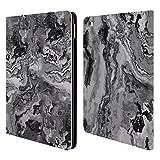 Head Case Designs Offizielle Haroulita Grau Marmor 2 Brieftasche Handyhülle aus Leder für iPad Air 2 (2014)