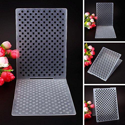 Teabelle Einfaches Design Kleine Punkte Muster Kunststoff Prägeschablonen für Heimwerker Karte Machen Dekoration Supplies Wave