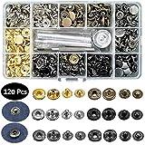 Aokebeey Metallknöpfe Snaps Button und T5 Druckknöpfe (120 Sets Metallknöpfe)
