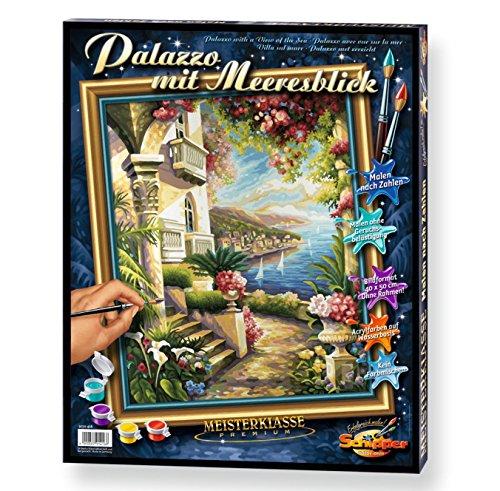 Schipper 609130416 Malen nach Zahlen Palazzo Mit Meeresblick, 40 x 50 cm