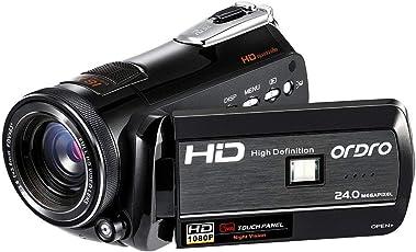 Digital Videokamera ORDRO Full HD 1080P 30FPS 24MP WiFi Nachtsicht Video Camcorder 18x Digital Zoom H.264