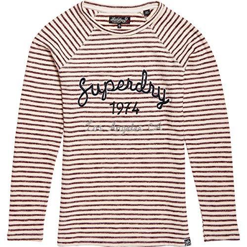 Superdry Damen Shirt Blossom Raglan Applique Langarm Rose (323) L -