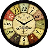 #3: IT2M 11 Inch Round Designer Wall Clock With Glass For Living Room / Home / Kitchen / bedroom (Non Ticking, Sweep Movement)