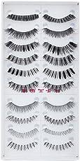 Generic 10 Pairs Mixed Styles False Eyelashes, (Black)