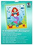 Ursus 8780007 - Moosgummi Bild 3D Meerjungfrau