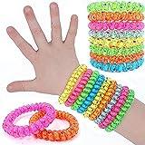 German-Trendseller ® 12 x bracelets super star┃avec étoiles┃mélange de couleurs┃petit cadeau┃l'anniversaire d'enfant┃bijoux d'enfants┃bracelets de spirales