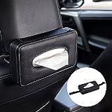 Mr. Ho Kosmetiktücherbox Auto Leder Tissue Box An den Rücksitz gebunden - Schwarz