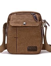 c66cb2ca17 SUPA MODERN® Men Small Vintage Canvas Messenger Bag Cross body bag Pack  Organizer Satchel Bag