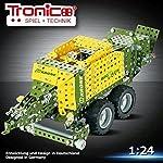 Tronico Metallbaukasten, KRONE BiG Pack HighSpeed, Anhänger für Traktor, ca. 715 Teile, 1:24, Freilauf, bebilderte Aufbauanleitung, inklusive Werkzeug, Junior Serie, ab 10 Jahren, rcee
