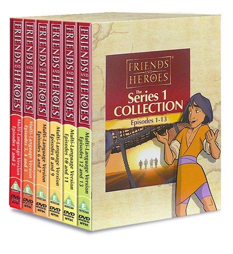 Friends and Heroes DVD Serie 1 Pack mehrsprachig - inklusive Bibelgeschichten von Jesus, Mose, Josef, Daniel und der Löwenhöhle und David und Goliath