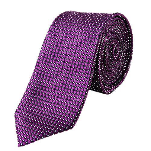 Preisvergleich Produktbild SEESUNGM Krawatte Anzug,  Herren-Business-Kleidung,  Dunkellila 6Cm Anzug