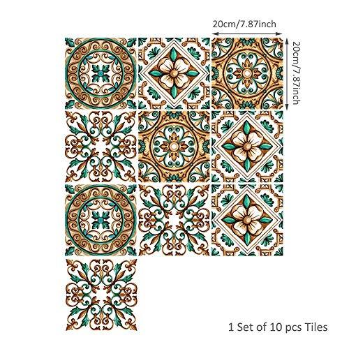 LinHut Einfache Hauptdekoration 10 Teile/Satz Selbstklebende Fliesenaufkleber Dekoration DIY Wohnzimmer Schlafzimmer Küche Dekoration Tapete Geschenk Umweltschutz (Size : 24) -