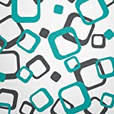 WANDfee® Wandtattoo 64 Retro Vierecke mit FARBWUNSCH 2farbig Farbe dunkelgrau türkis