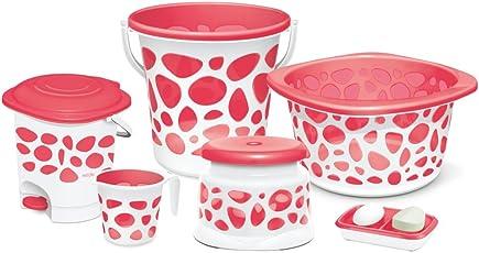 Milton Duplex 6 Pc Bathroom Set (Pink)
