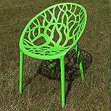 ECENCE Garten-Stuhl Boom Stapelbar Kunststoff Grün Küchenstuhl Bistrostuhl Stapelstuhl Sessel 81050104