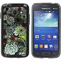 WonderWall Carta Da Parati Immagine Custodia Rigida Protezione Cover Case Per Samsung Galaxy Ace 3 GT-S7270 GT-S7275 GT-S7272 - cono albero foresta verde