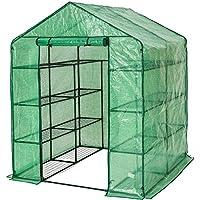 TecTake Serra da giardino in acciaio e PVC per piante - modelli differenti - (143x143x195cm | No. 401860)