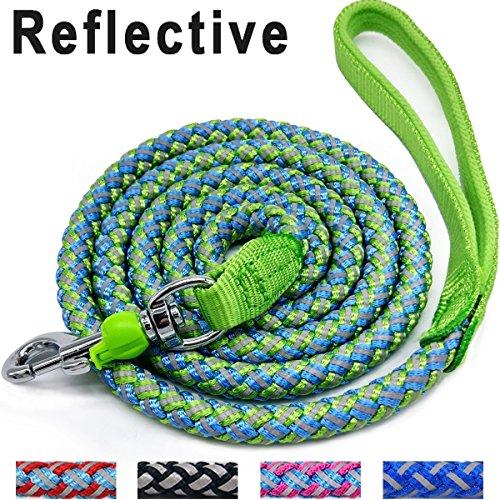Mycicy Hundeleine, zum Bergsteigen, 1,8 m, reflektierendes Nylon, Geflochten, strapazierfähig, für große und mittelgroße Hunde, Grün
