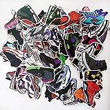 Aufkleber 100pcs für Skateboard Snowboard-Weinlese-Vinylaufkleber-Graffiti Laptop Gepäck Auto-Fahrrad-Decals mischen Lot Art- und Weisekühler