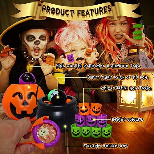THE TWIDDLERS Set von 110 Halloween Thema Party Mitgebseln Scherzartikel - Perfekt für Partytaschenfüller - Pinatas - Geburtstag & Halloween Partys - Weihnachten Etc. - 2
