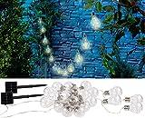 Lunartec Solarketten: Solar-LED-Lichterkette im Glühbirnen-Look, 12 Birnen, 8,5 m, 2er-Set