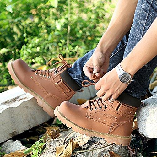 Scarponi Alti In Peluche Di Martin Boots Plus Invernali Degli Uomini Scarpe Da Sbalzo Antisdrucciolo All'aperto 38-44 Dark brown